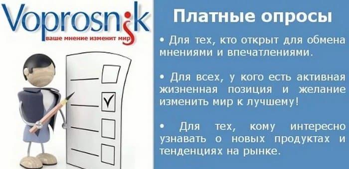 Обзор опросника Voprosnik ru