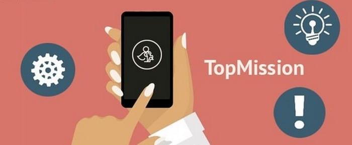 Мобильное приложение Topmission для заработка